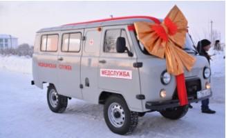 Акмолинский предприниматель подарил сельской амбулатории санитарную автомашину